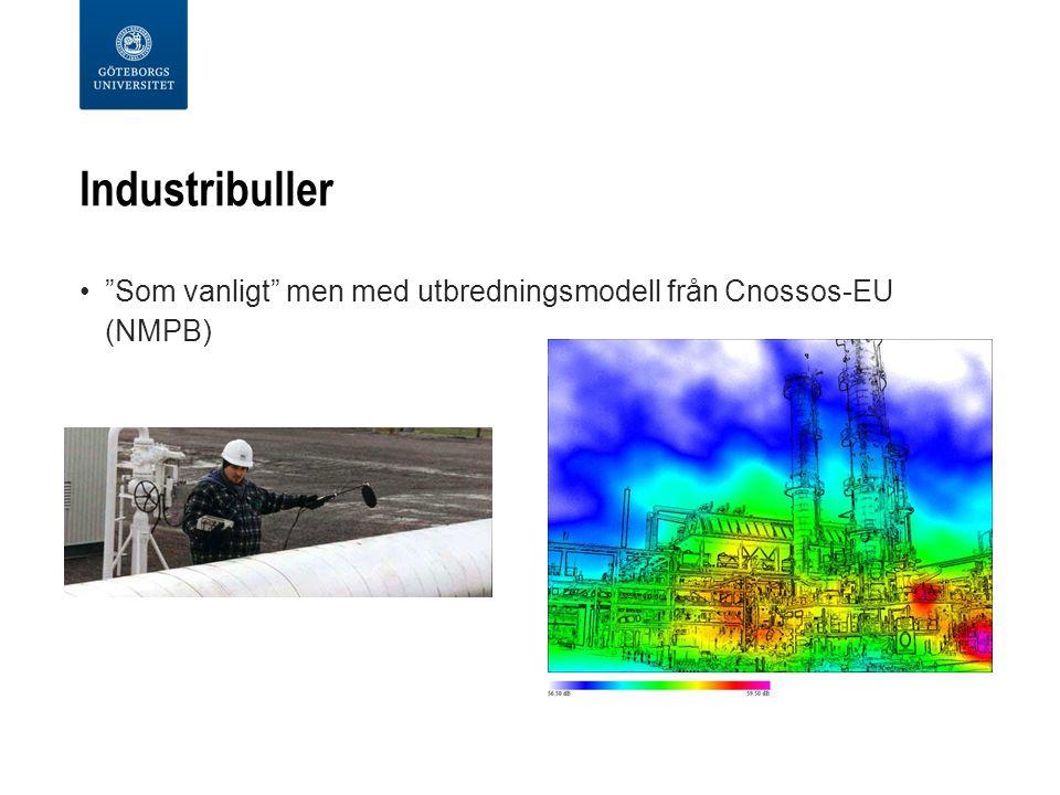 """Industribuller """"Som vanligt"""" men med utbredningsmodell från Cnossos-EU (NMPB)"""