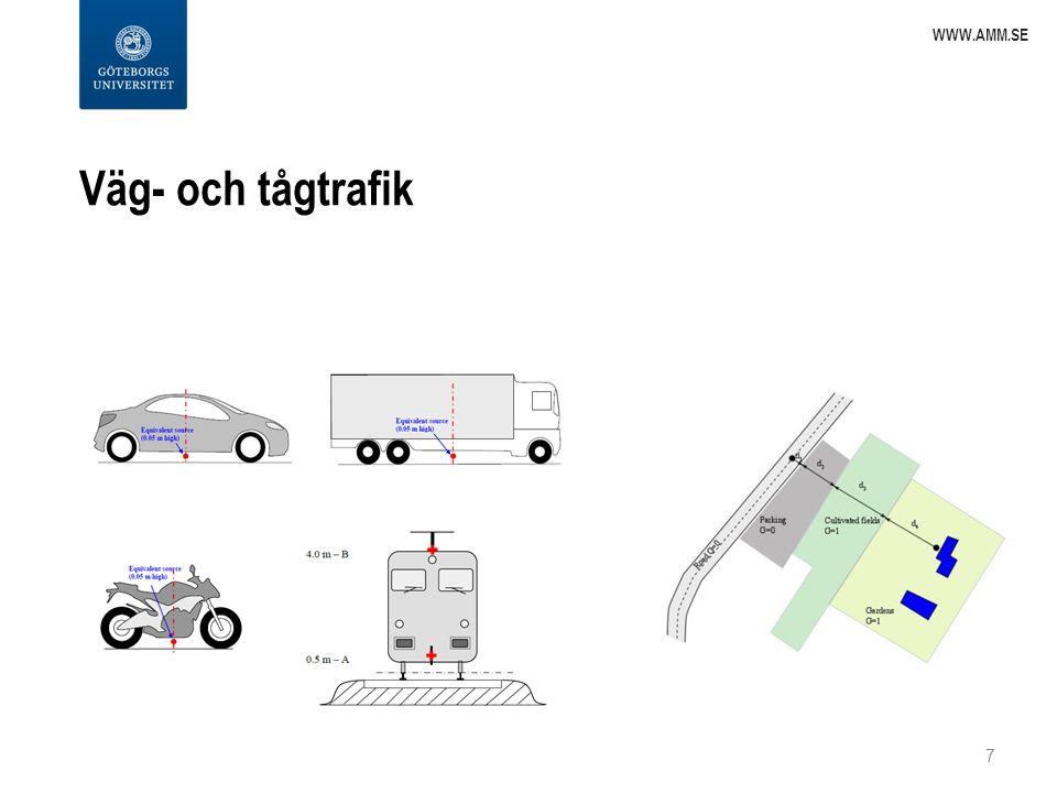 Väg- och tågtrafik 7 WWW.AMM.SE