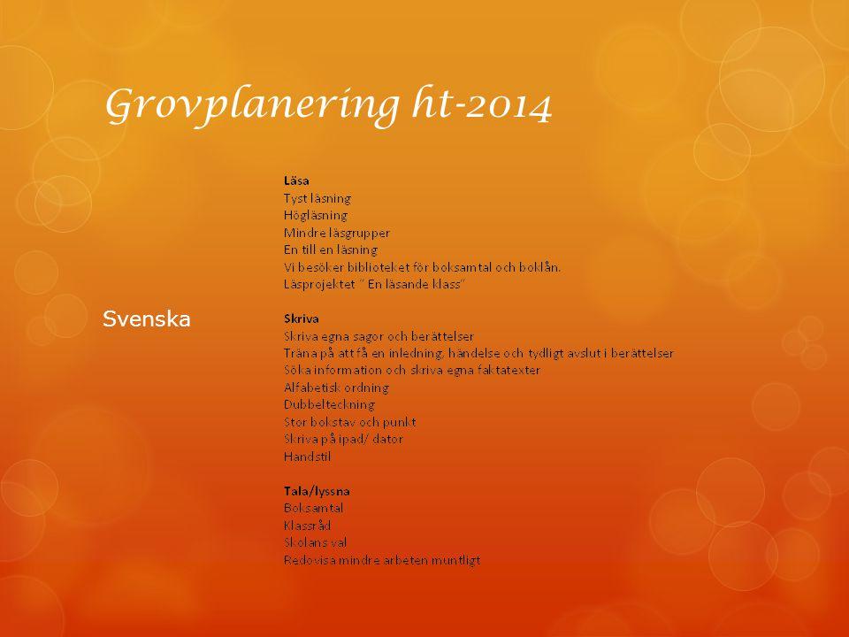 Grovplanering ht-2014 Svenska