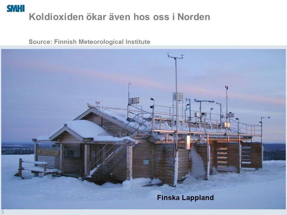 2015-04-01 Koldioxiden ökar även hos oss i Norden Source: Finnish Meteorological Institute Finska Lappland