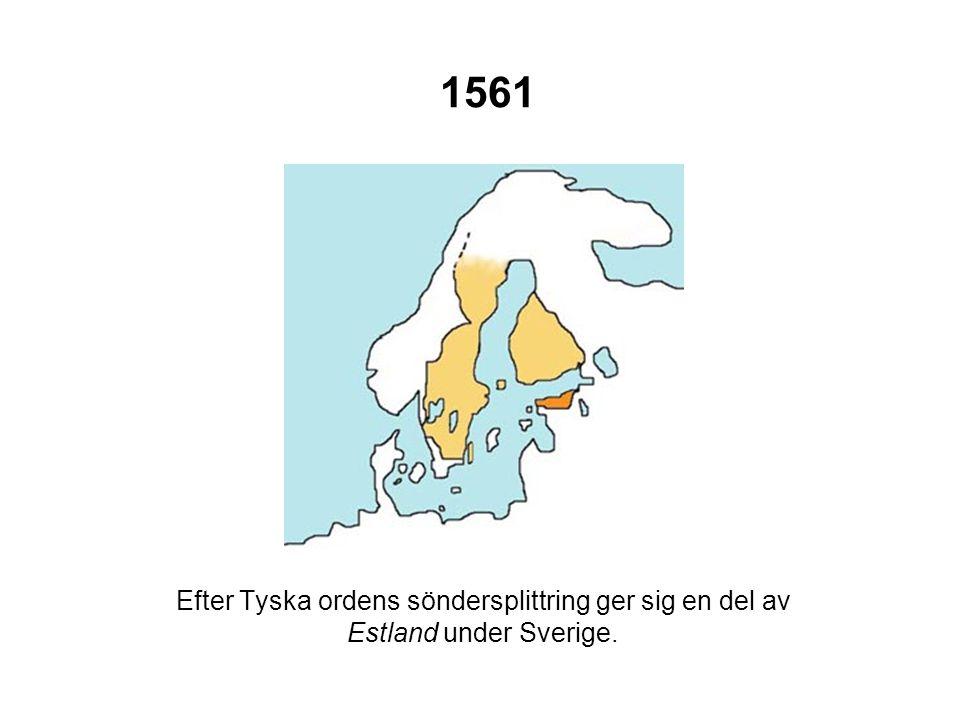 1595 Östgränsen mot Ryssland fastställs.