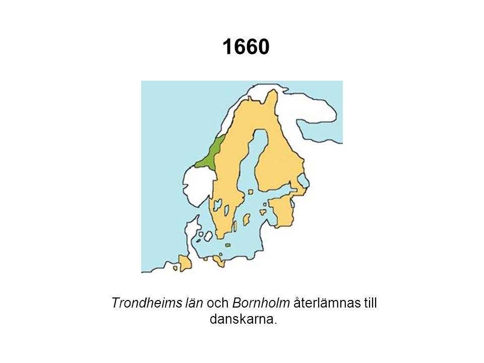 1679 En strandremsa i Hinterpommern avträds till Brandenburg.