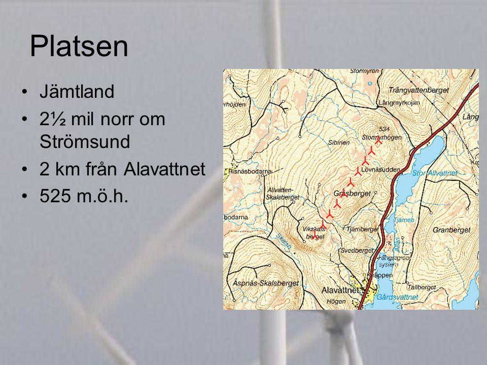 Platsen Jämtland 2½ mil norr om Strömsund 2 km från Alavattnet 525 m.ö.h.
