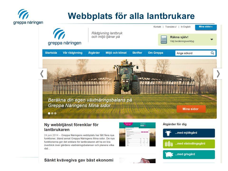 Webbplats för alla lantbrukare