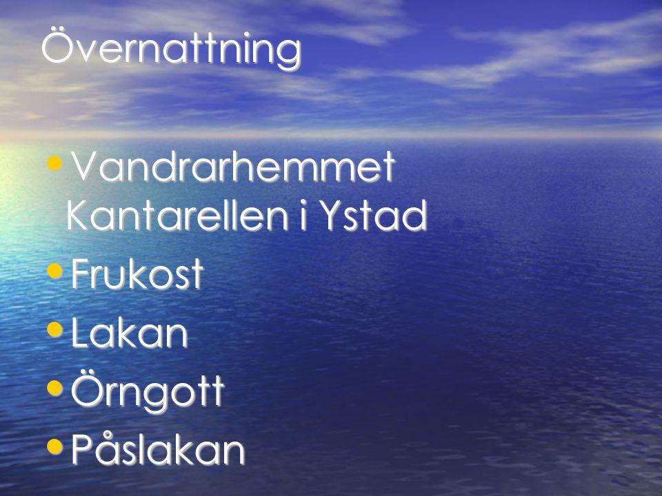 Övernattning Vandrarhemmet Kantarellen i Ystad Vandrarhemmet Kantarellen i Ystad Frukost Frukost Lakan Lakan Örngott Örngott Påslakan Påslakan