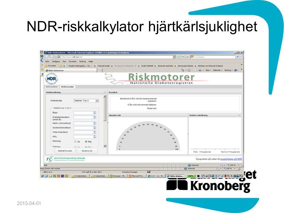 NDR-riskkalkylator hjärtkärlsjuklighet 2015-04-01