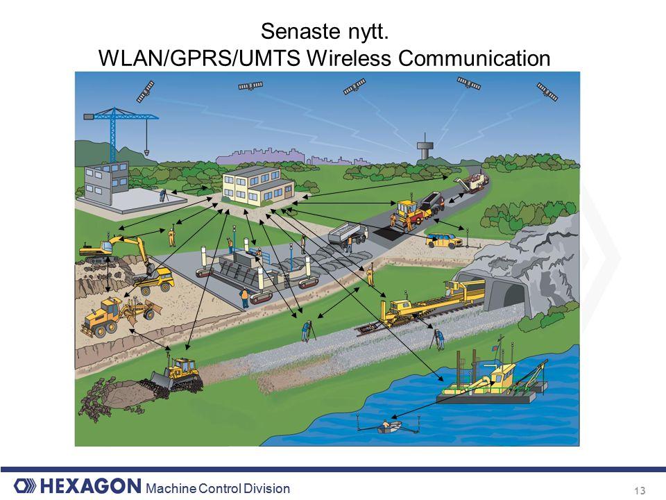 Machine Control Division 13 Senaste nytt. WLAN/GPRS/UMTS Wireless Communication
