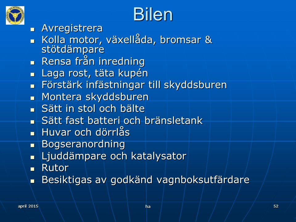 april 2015 ha 51 Säkerhetsutrustning Stol Stol Bälte Bälte Skyddsbur Skyddsbur Huvudströmbrytare Huvudströmbrytare FÖNSTERNÄT