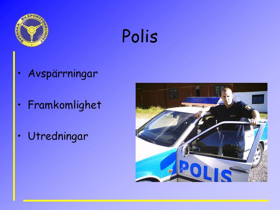 Polis Avspärrningar Framkomlighet Utredningar
