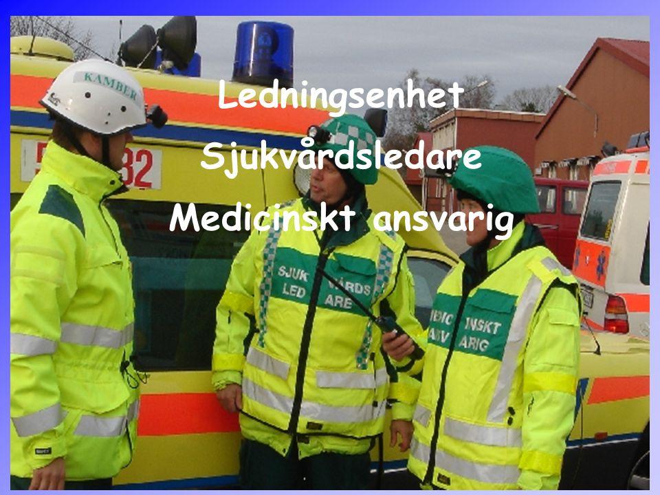Ledningsenhet Sjukvårdsledare Medicinskt ansvarig