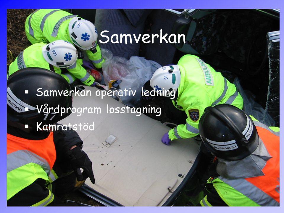 Samverkan  Samverkan operativ ledning  Vårdprogram losstagning  Kamratstöd