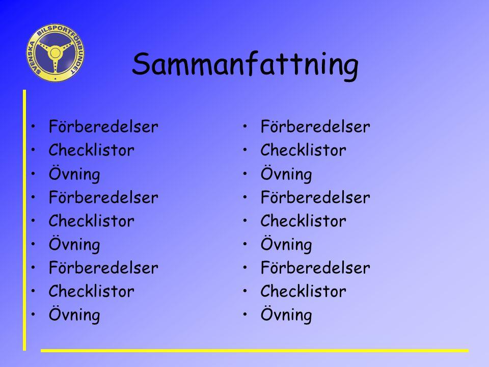 Sammanfattning Förberedelser Checklistor Övning Förberedelser Checklistor Övning Förberedelser Checklistor Övning Förberedelser Checklistor Övning Förberedelser Checklistor Övning Förberedelser Checklistor Övning