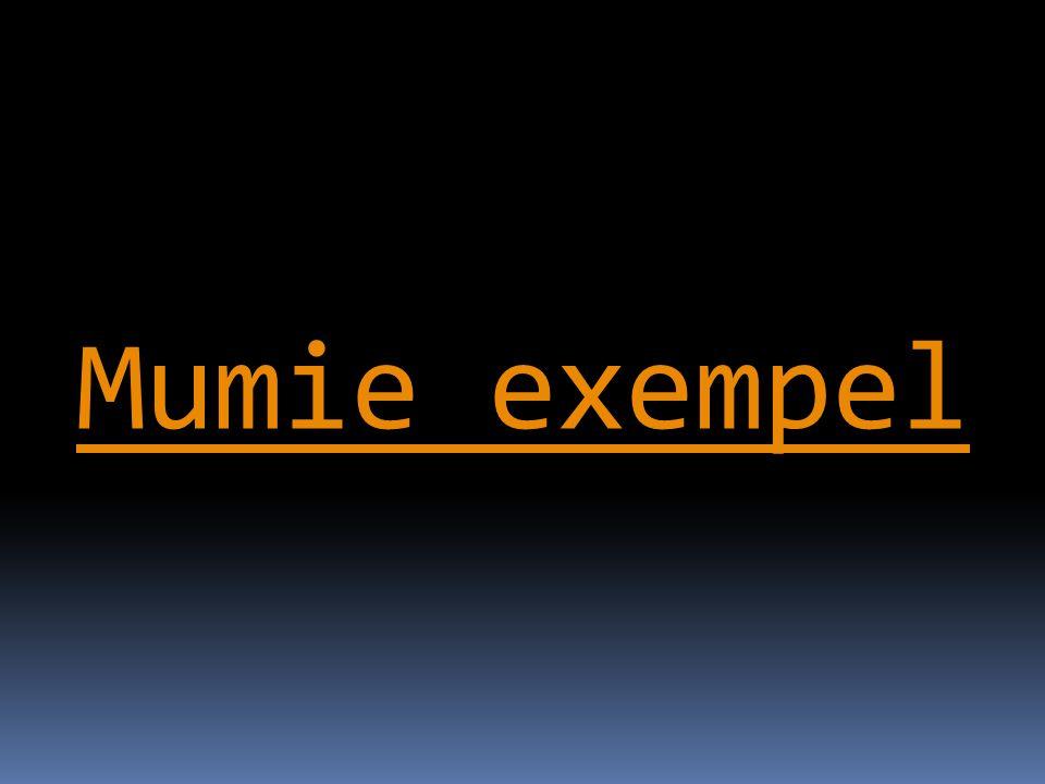 Mumie exempel