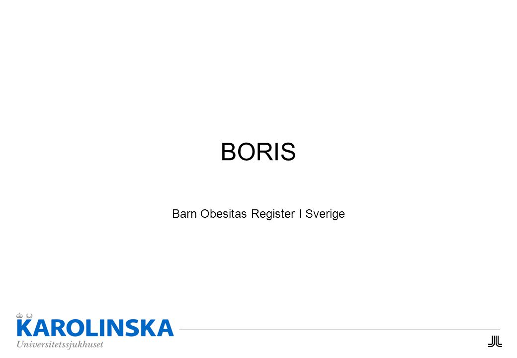 BORIS Barn Obesitas Register I Sverige
