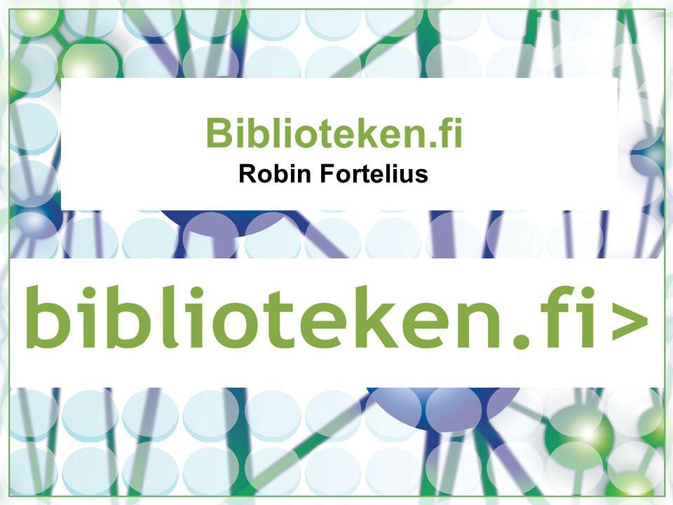 Biblioteken.fi Robin Fortelius