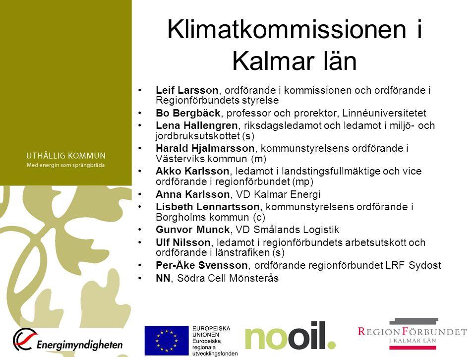 Klimatkommissionen i Kalmar län Leif Larsson, ordförande i kommissionen och ordförande i Regionförbundets styrelse Bo Bergbäck, professor och prorekto