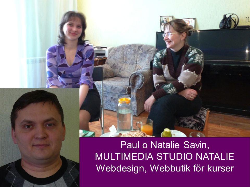 12 Paul o Natalie Savin, MULTIMEDIA STUDIO NATALIE Webdesign, Webbutik för kurser