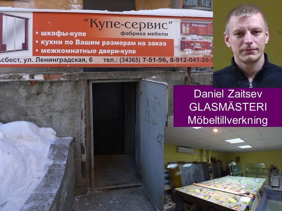 14 Daniel Zaitsev GLASMÄSTERI Möbeltillverkning