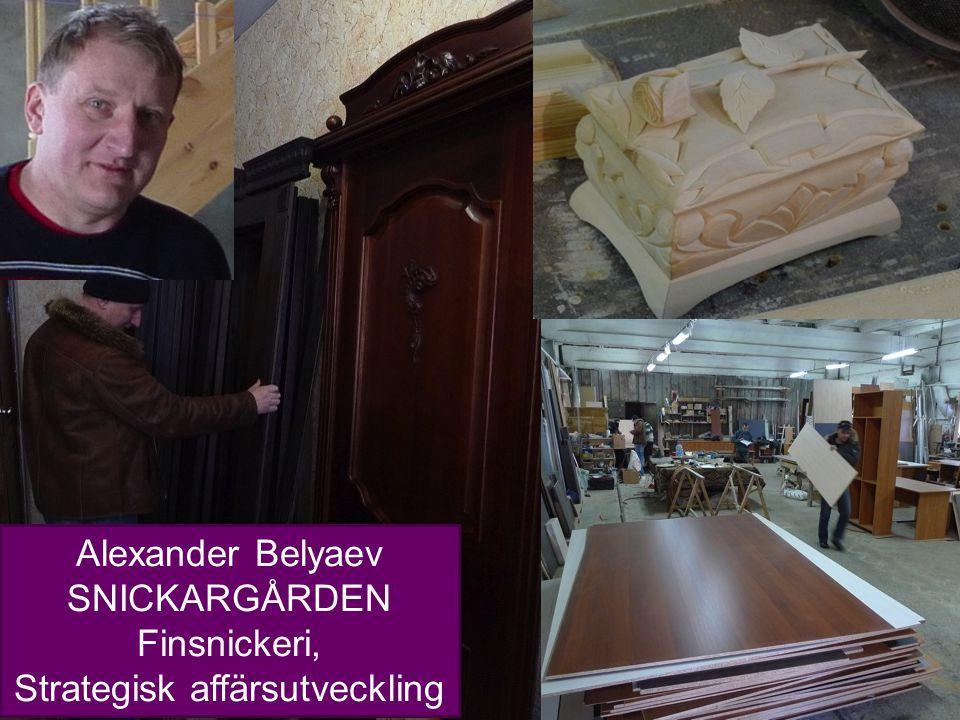 7 Alexander Belyaev SNICKARGÅRDEN Finsnickeri, Strategisk affärsutveckling