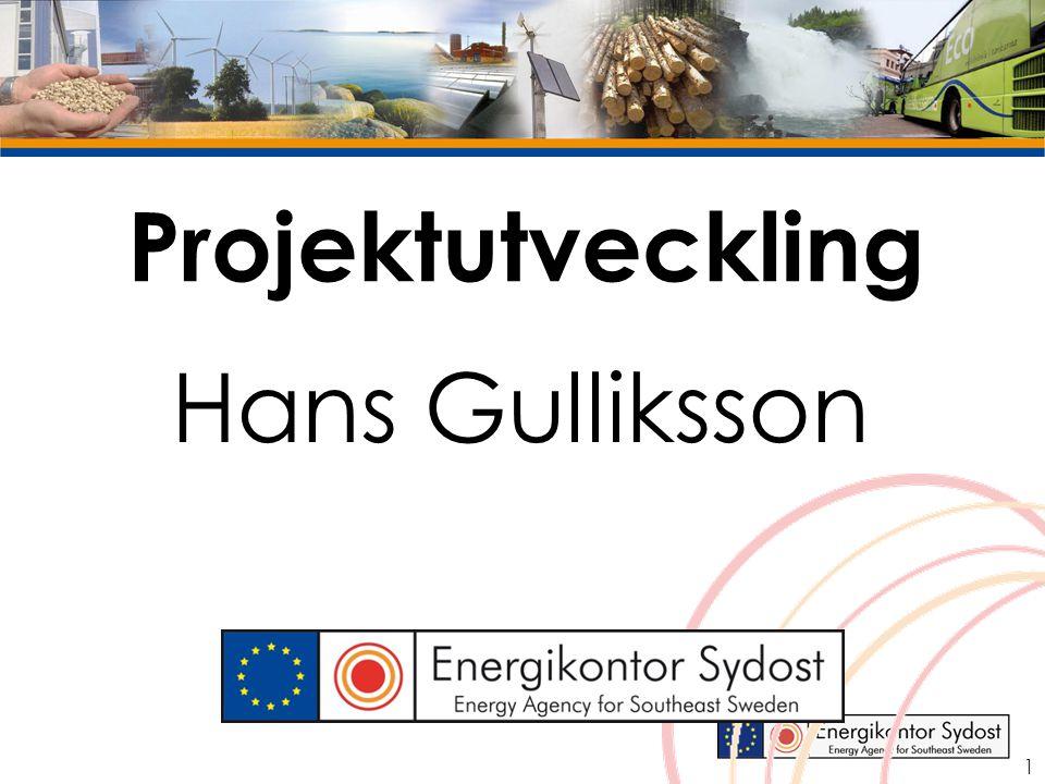 Projektutveckling Hans Gulliksson 1
