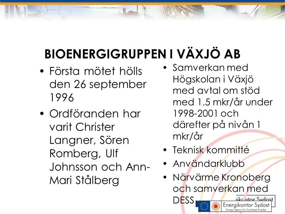 4 Småsaklig bioenergi, del Närvärme Projektsamordning av 12 FoU projekt kring biobränsle och närvärme.