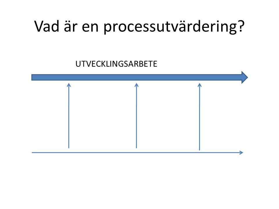 Vad är en processutvärdering? UTVECKLINGSARBETE