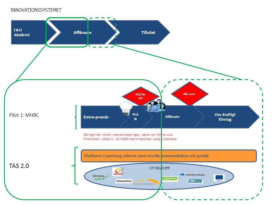 Plattform: Coachning, nätverk samt viss HR, kommunikation och juridik.