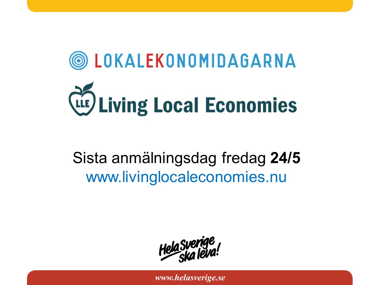 www.helasverige.se Konstaterat: Centraliseringen inom banksektorn har lett till bristande tillgång till kapital i glesbygden Vi behöver hitta nya lösningar för att finansiera lokal utveckling!