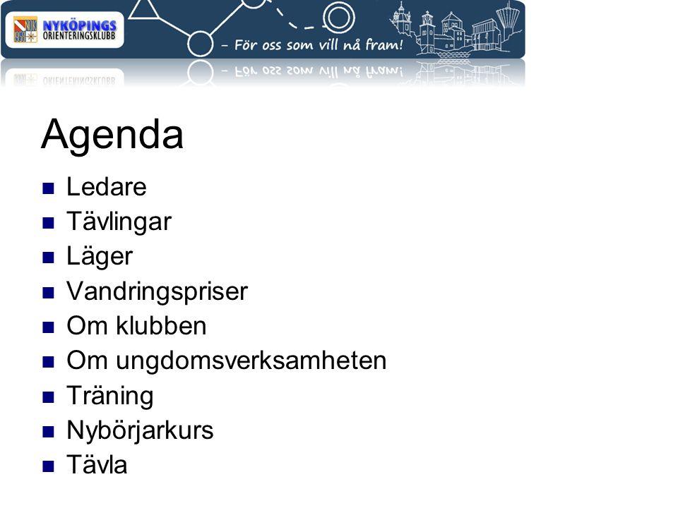 Agenda Ledare Tävlingar Läger Vandringspriser Om klubben Om ungdomsverksamheten Träning Nybörjarkurs Tävla
