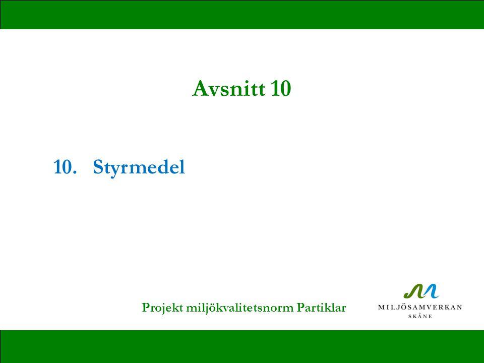 10.Styrmedel Avsnitt 10 Projekt miljökvalitetsnorm Partiklar