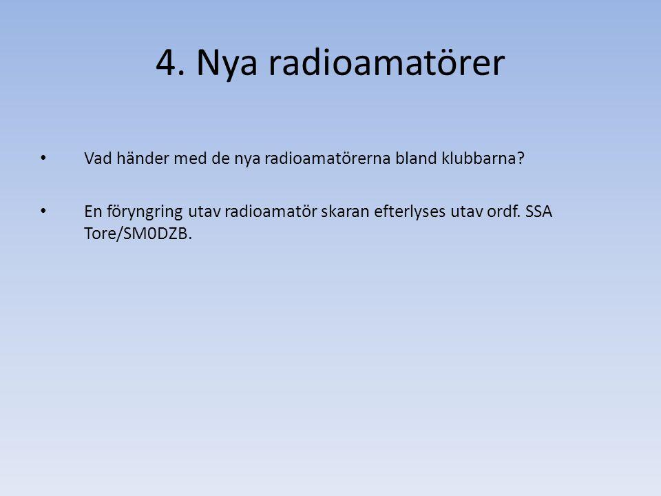 Vad händer med de nya radioamatörerna bland klubbarna.