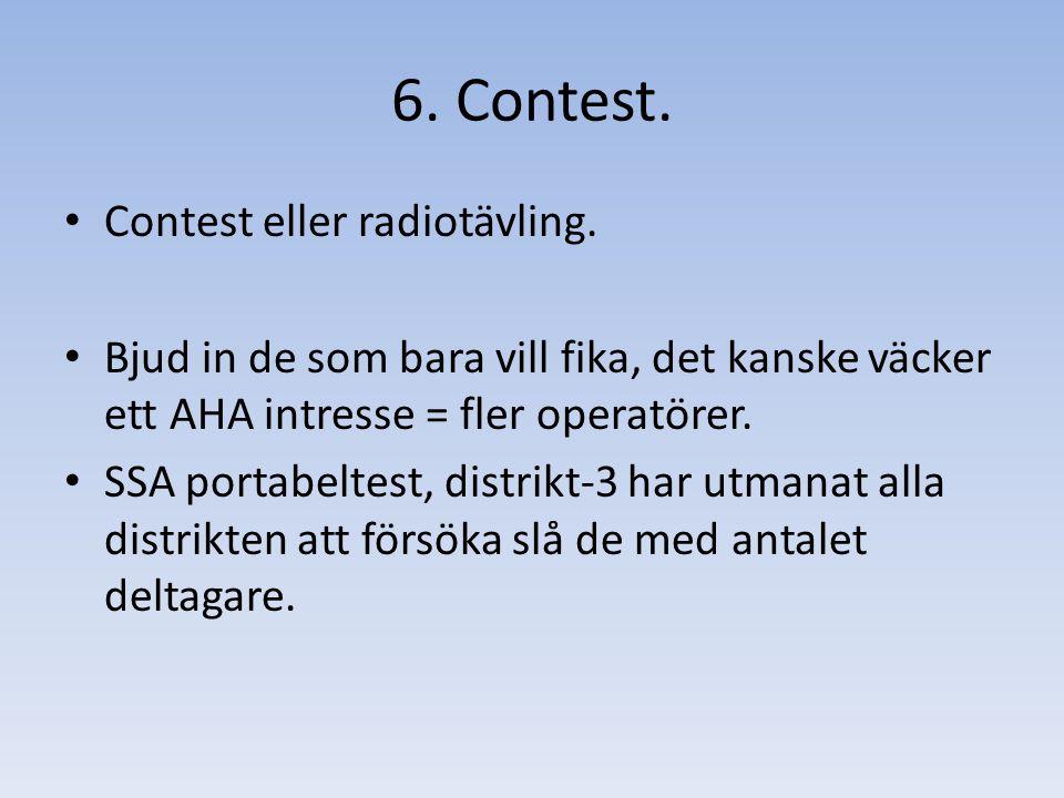 Contest eller radiotävling.