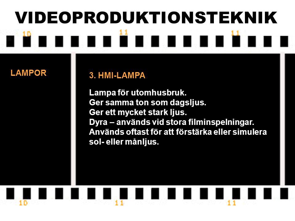 VIDEOPRODUKTIONSTEKNIK LAMPOR REDHEAD