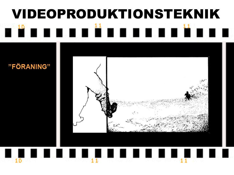 """VIDEOPRODUKTIONSTEKNIK """"FÖRANING"""""""