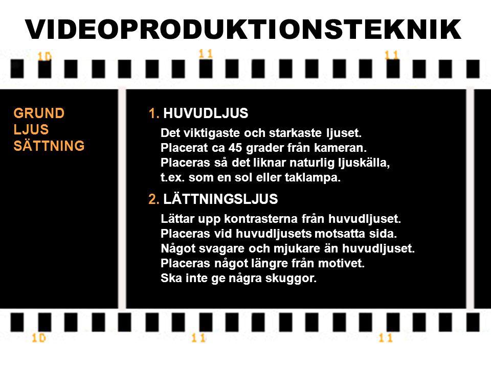 VIDEOPRODUKTIONSTEKNIK NACKDELAR MED AUTOMATISK EXPONERING 1.