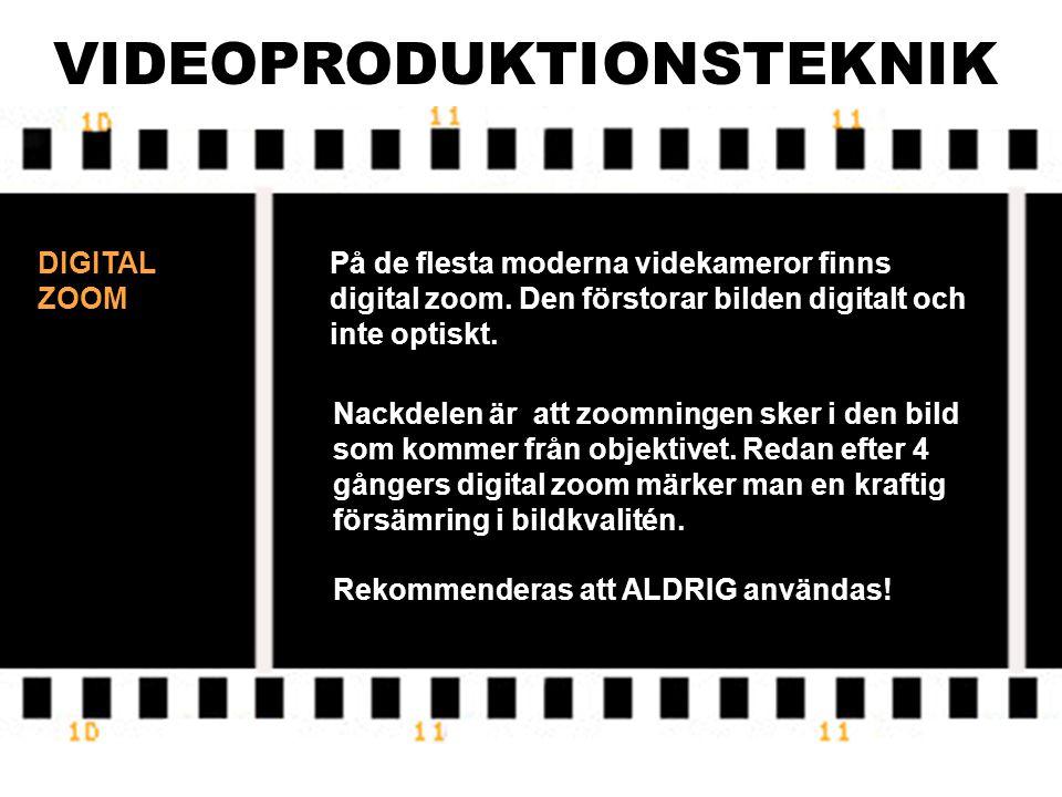 VIDEOPRODUKTIONSTEKNIK CCD STORLEK