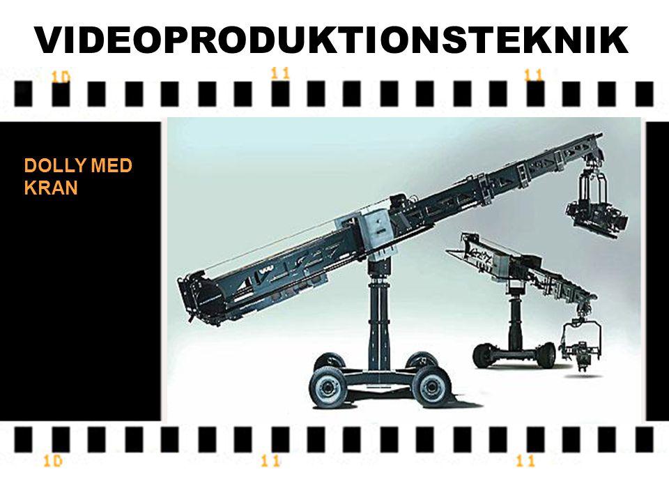VIDEOPRODUKTIONSTEKNIK DOLLY PÅ RÄLS