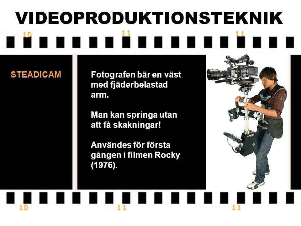VIDEOPRODUKTIONSTEKNIK DOLLY MED KRAN