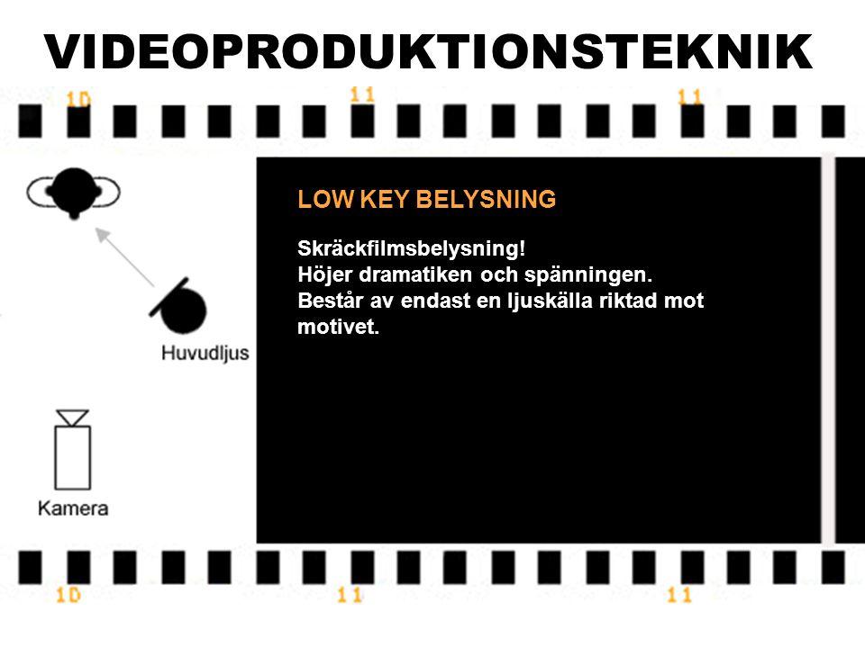 VIDEOPRODUKTIONSTEKNIK LOW KEY BELYSNING Skräckfilmsbelysning.