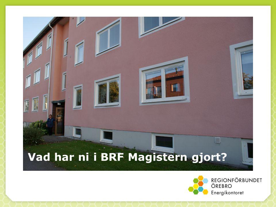Vad har ni i BRF Magistern gjort?