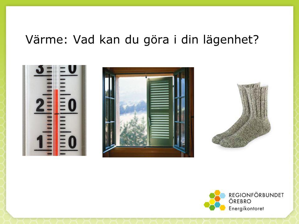 Värme: Vad kan du göra i din lägenhet?