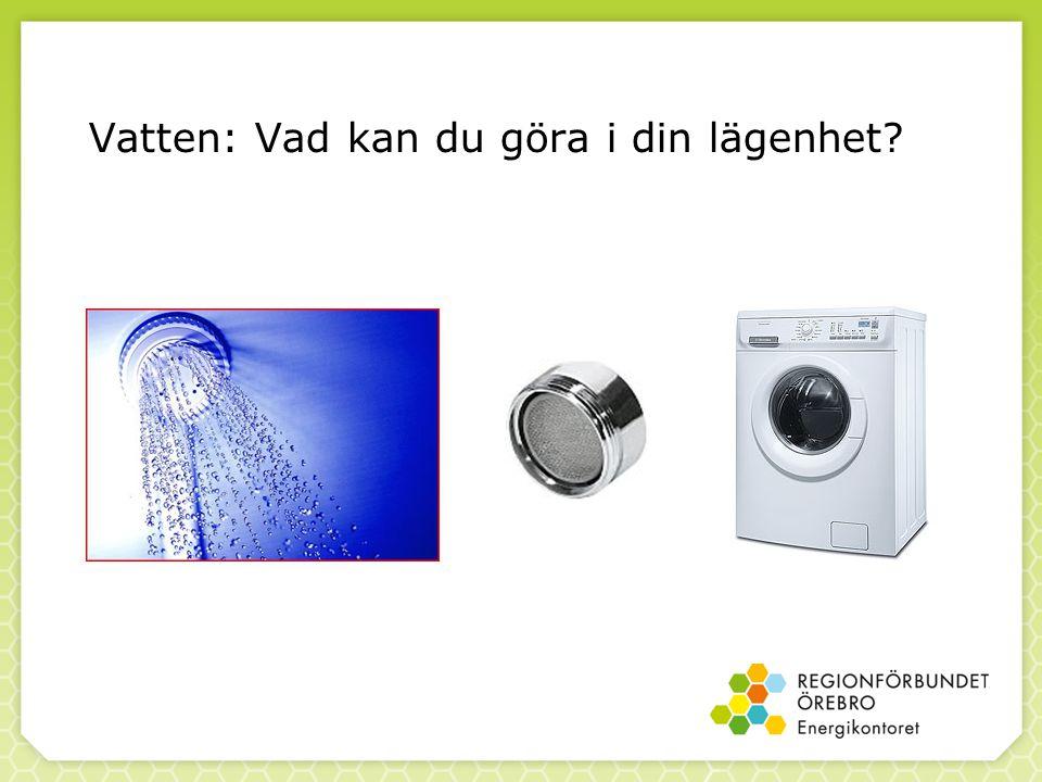 Vatten: Vad kan du göra i din lägenhet