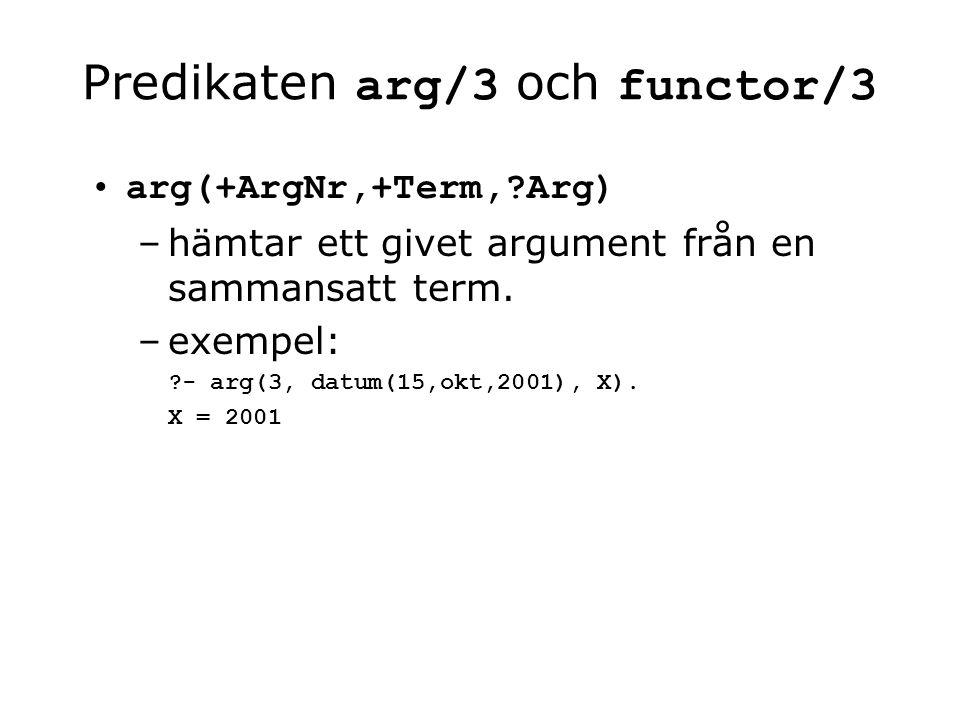 operatorer som inte är specialtecken En operator behöver inte vara uppbyggd av specialtecken, t.ex.