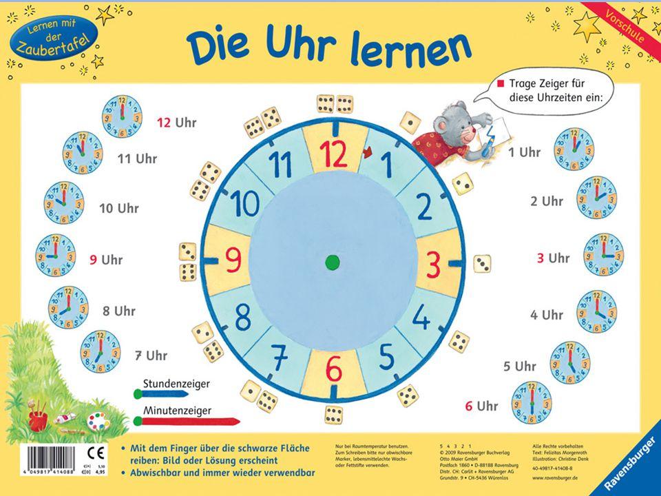 Testa nu själv Halv åtta Halb acht Tio över sex Zehn nach sechs Tjugo i sju Zwanzig vor sieben Klockan fem Fünf Uhr Vad är klockan.