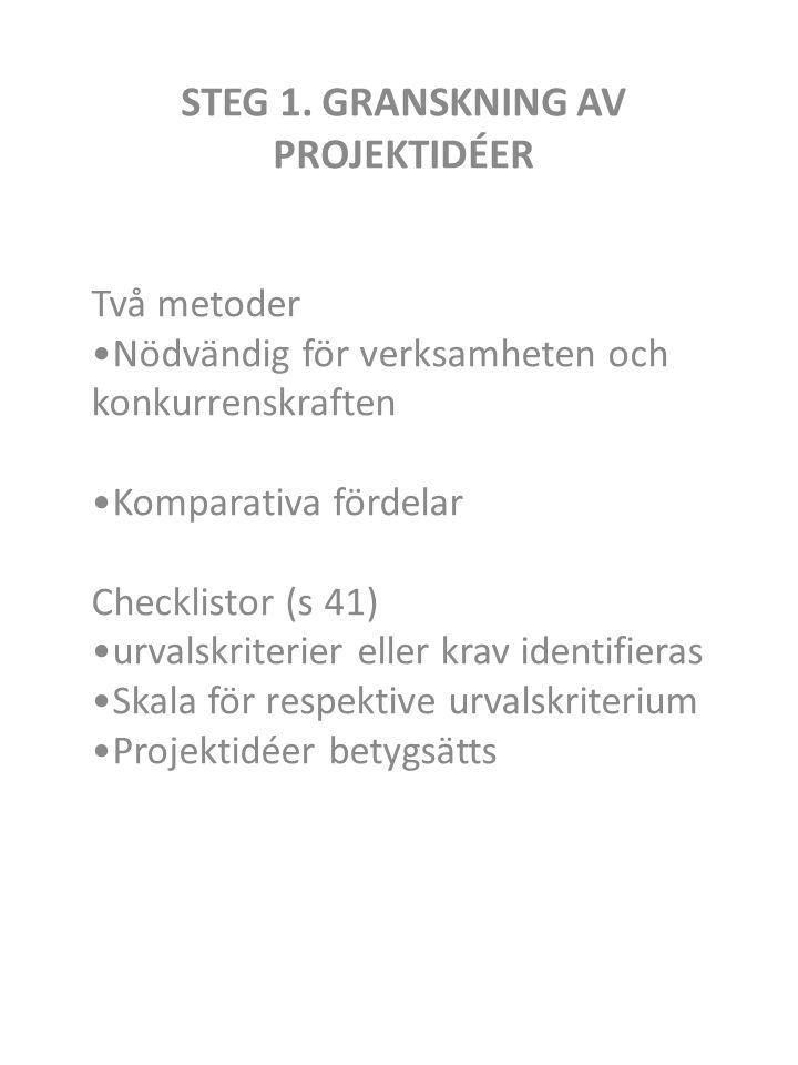 STEG 1.