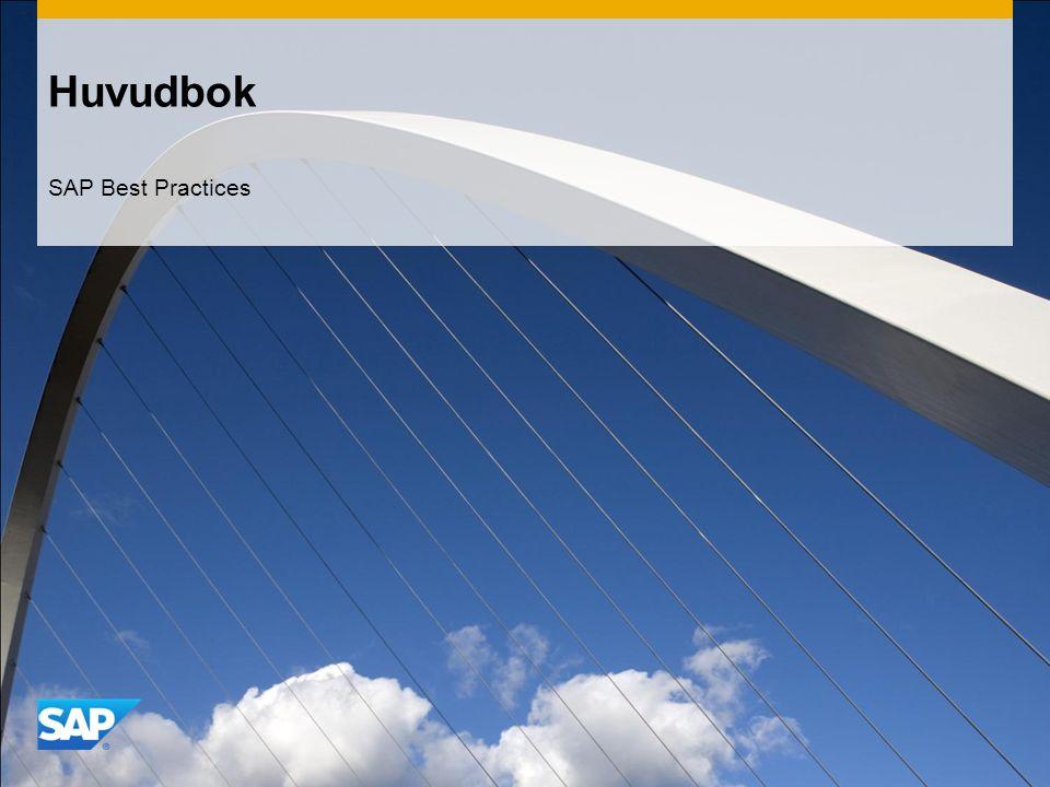 Huvudbok SAP Best Practices