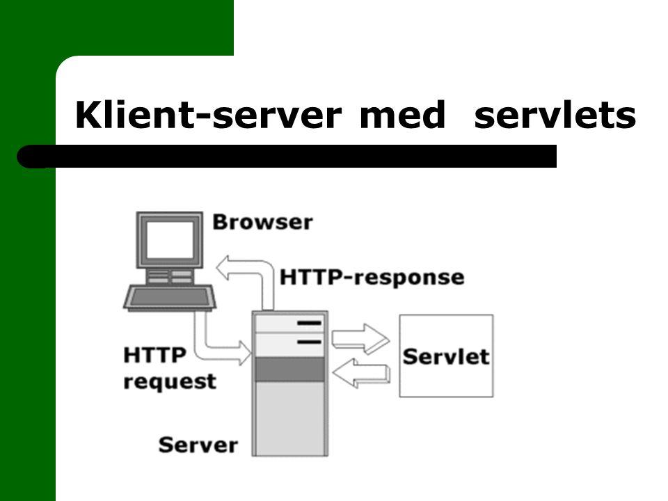 GET och POST I 99% så handlar det om GET och POST GET – tänkt för att hämta saker från servern – jobbar med URL + frågesträng – vissa servrar klipper av frågesträngen efter x tecken POST – skickar data till servern utan att klienten ser – passar bättre för stora mängder data – säkrare än GET
