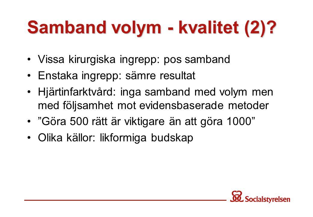Samband volym - kvalitet (2).