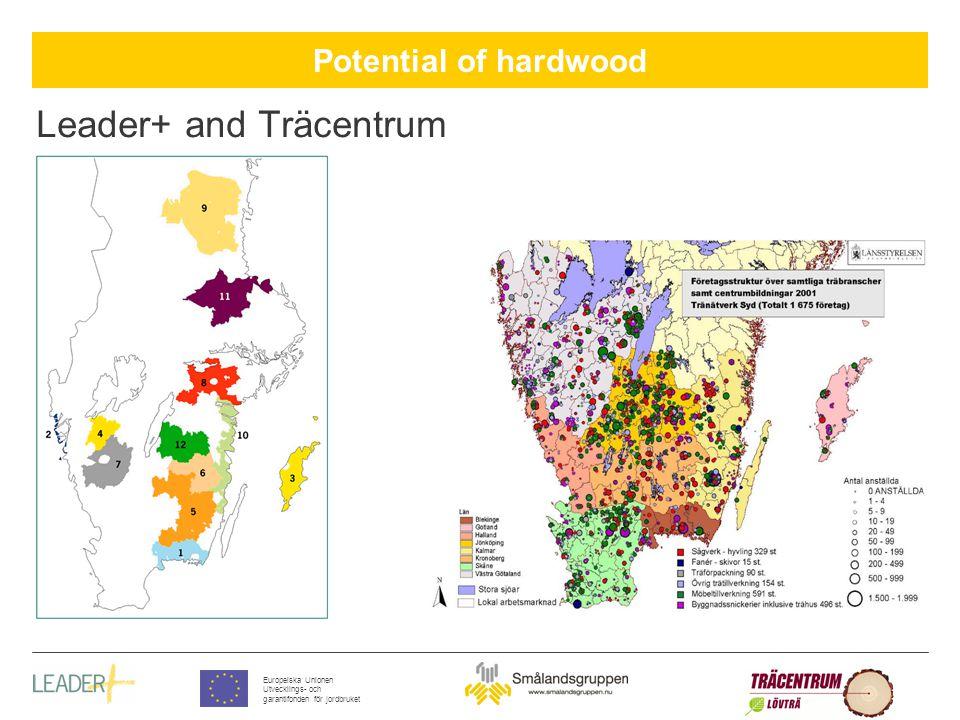 Potential of hardwood Europeiska Unionen Utvecklings- och garantifonden för jordbruket Leader+ and Träcentrum