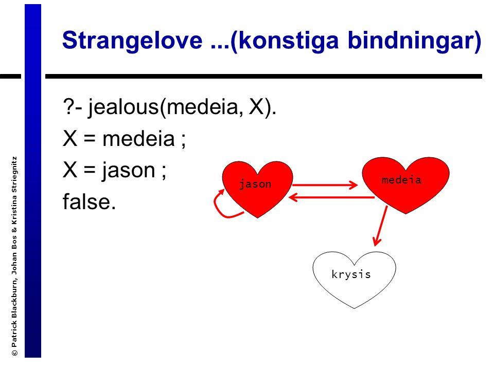 Strangelove...(konstiga bindningar) - jealous(medeia, X).